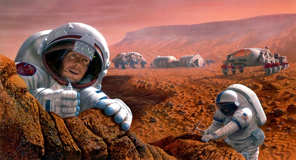 Image of Happy-Mars-Astronaut