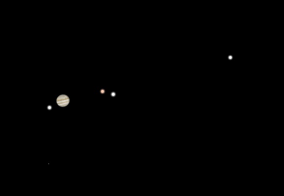 Image of Jupiter and moons