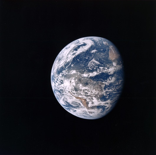 Image of Earth from Apollo 15