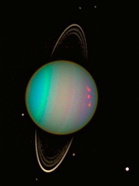 Image of Uranus and its rings