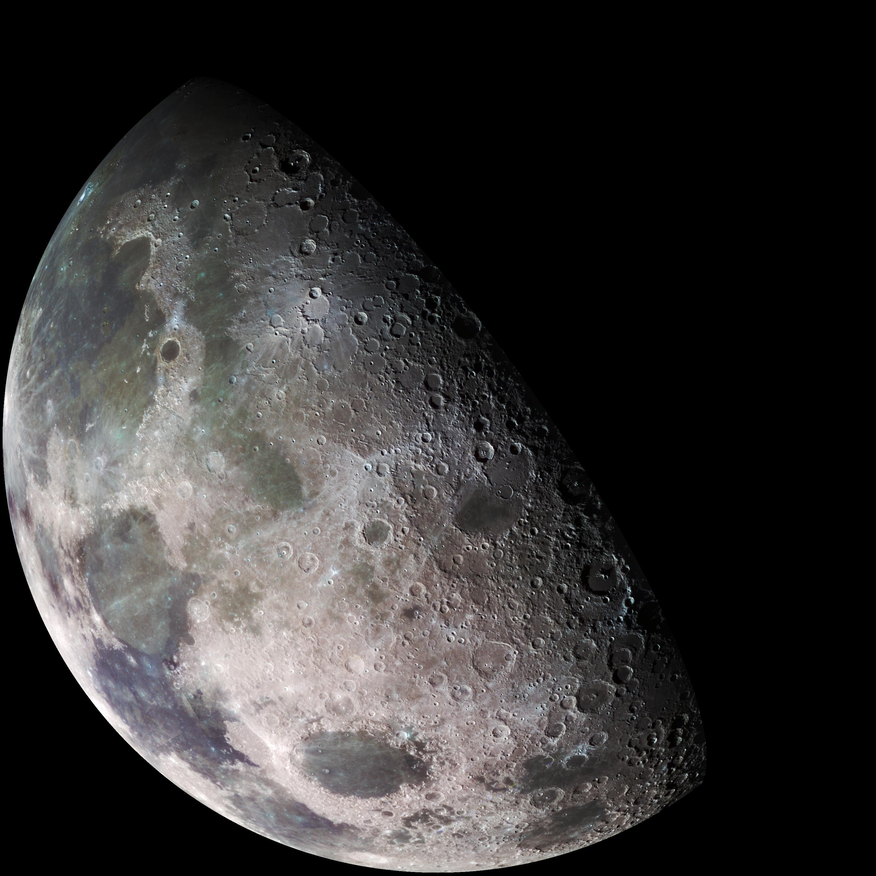 Image of the Moon captured by NASA's Galileo spacecraft on a flyby en-route to Jupiter in 1992.  Image Credit: NASA/JPL/USGS.
