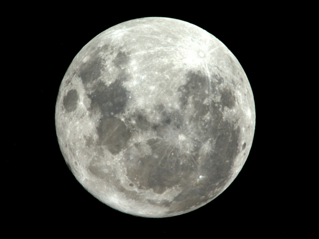 A close up of the moon  Description automatically generated